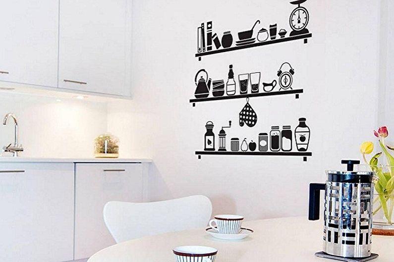 Дизайн кухни 3 на 3 метра - Освещение и декор