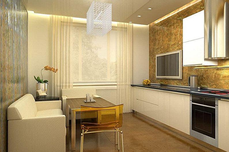 Дизайн интерьера кухни 3 на 3 метра - фото