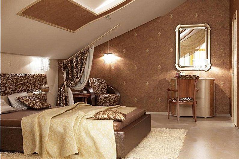 Дизайн спальни на мансарде - Особенности