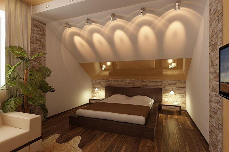 Дизайн спальни на мансарде - Что нужно учесть