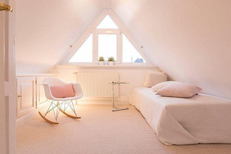 Дизайн спальни на мансарде - Цветовые решения