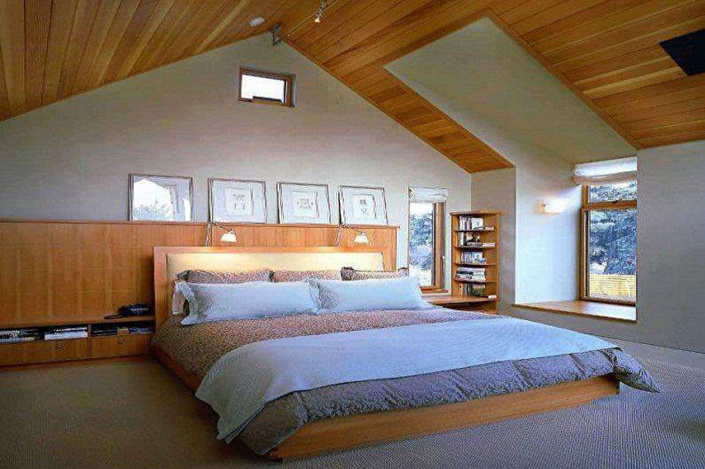 Дизайн спальни на мансарде - Отделка пола