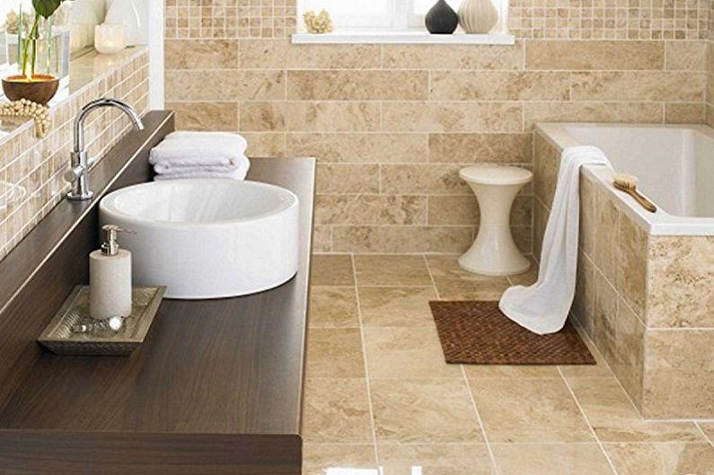 Дизайн ванной комнаты 5 кв.м. - Отделка пола