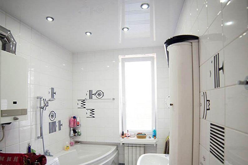 Дизайн ванной комнаты 5 кв.м. - Отделка потолка