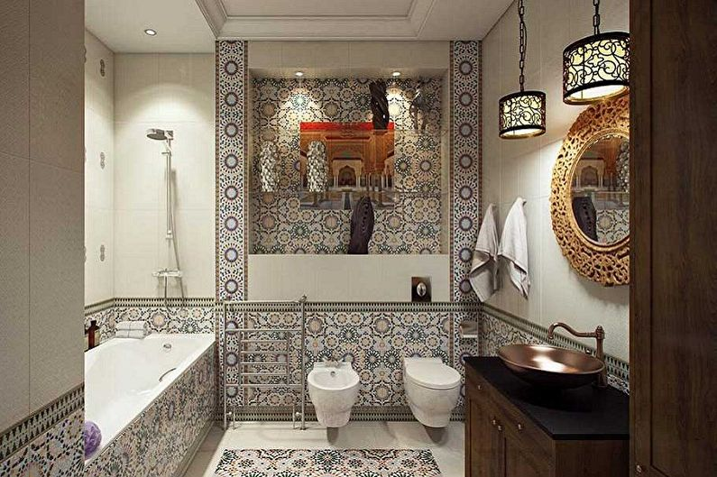 Дизайн ванной комнаты 5 кв.м. - Освещение и декор