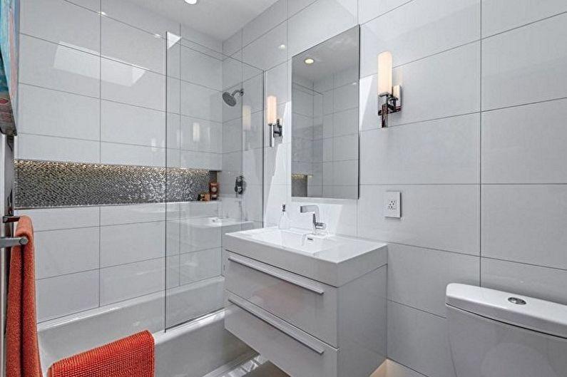 Ванная комната 5 кв.м. в стиле минимализм - Дизайн интерьера