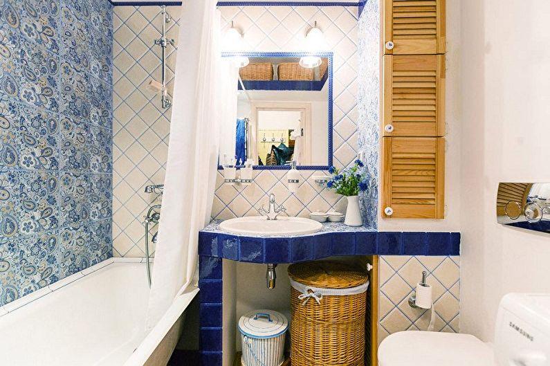Ванная комната 5 кв.м. в стиле прованс - Дизайн интерьера