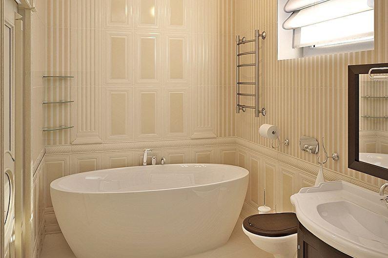 Ванная комната 5 кв.м. в классическом стиле - Дизайн интерьера