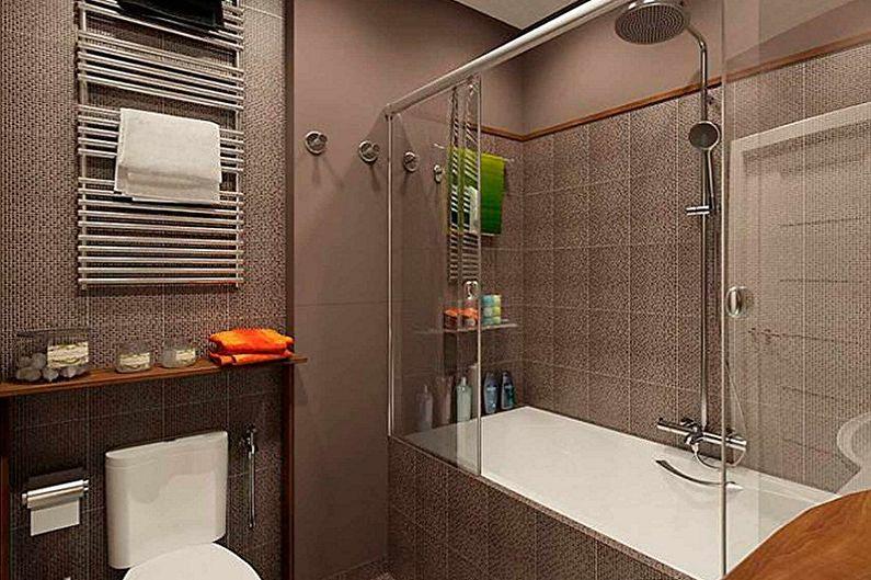 Дизайн интерьера ванной комнаты 5 кв.м. - фото