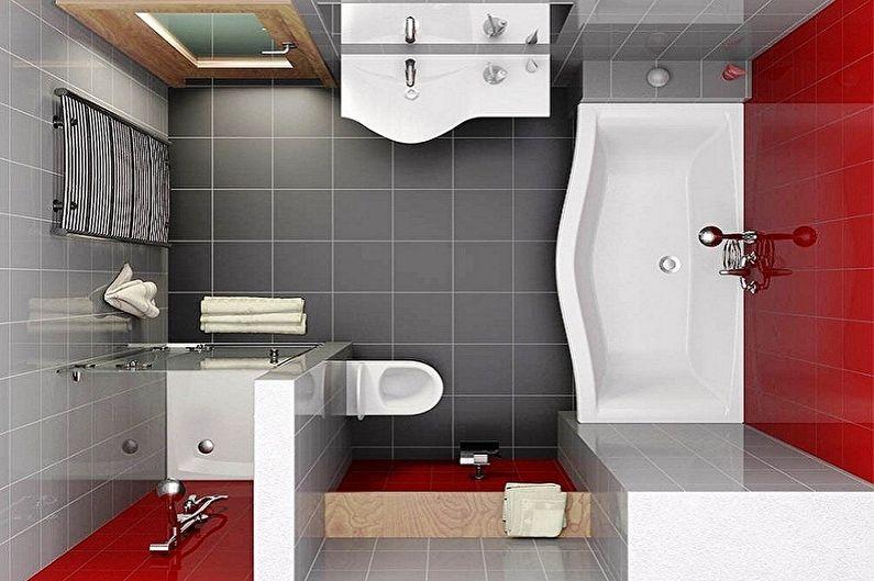 Дизайн ванной комнаты 6 кв.м. - Планировка