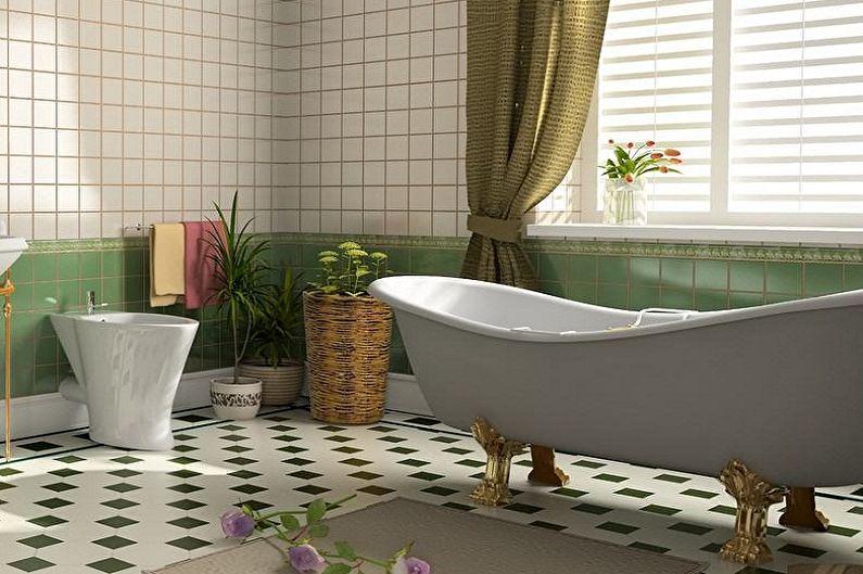 Дизайн ванной комнаты 6 кв.м. - Отделка пола