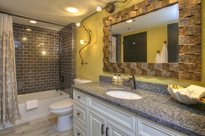 Дизайн ванной комнаты 6 кв.м. - Отделка стен