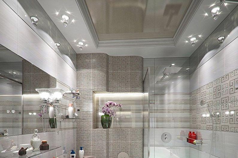 Дизайн ванной комнаты 6 кв.м. - Отделка потолка