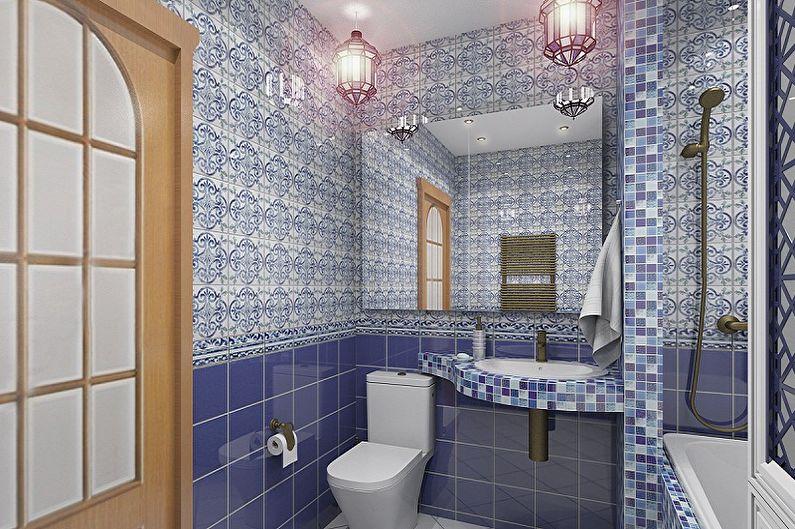 Дизайн ванной комнаты 6 кв.м. - Освещение и декор