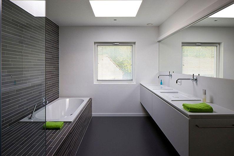 Ванная комната 6 кв.м. в стиле минимализм - Дизайн интерьера