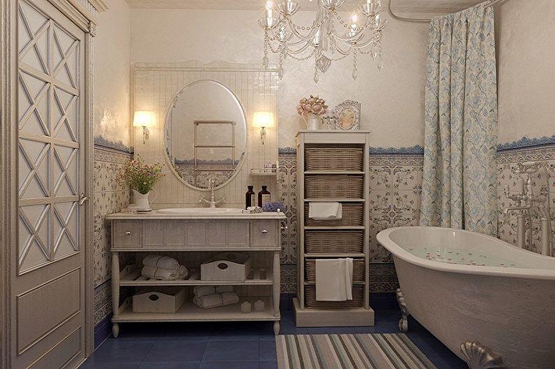 Ванная комната 6 кв.м. в стиле прованс - Дизайн интерьера