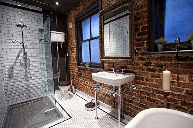 Ванная комната 6 кв.м. в стиле лофт - Дизайн интерьера