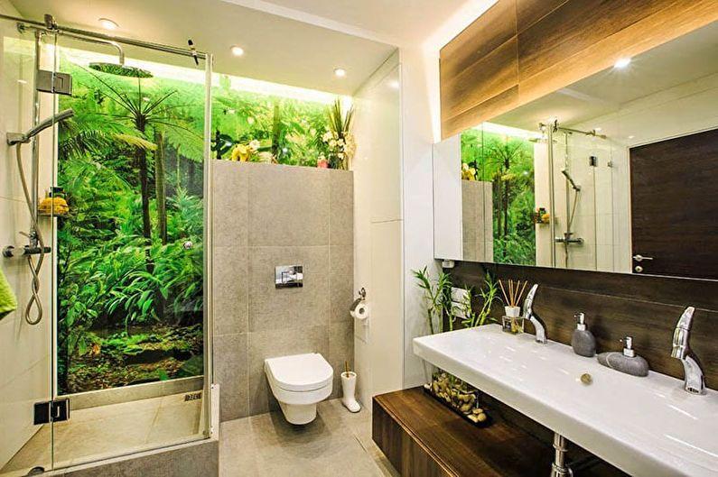 Ванная комната 6 кв.м. в эко-стиле - Дизайн интерьера