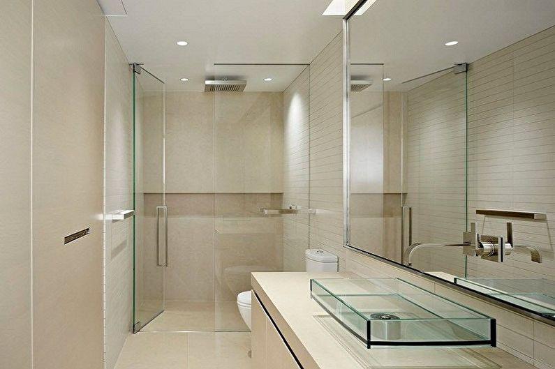 Ванная комната 6 кв.м. в стиле хай-тек - Дизайн интерьера