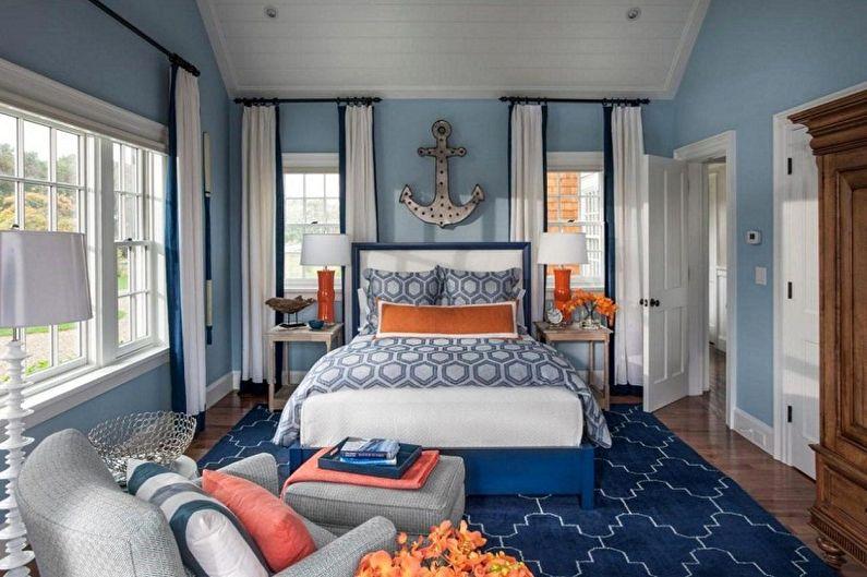 Синие обои для спальни - Цвет обоев для спальни