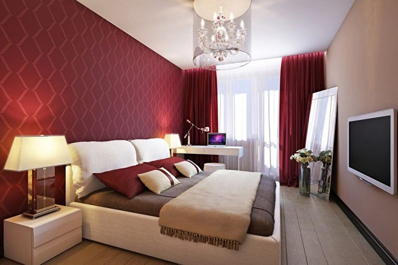 Красные обои для спальни - Цвет обоев для спальни