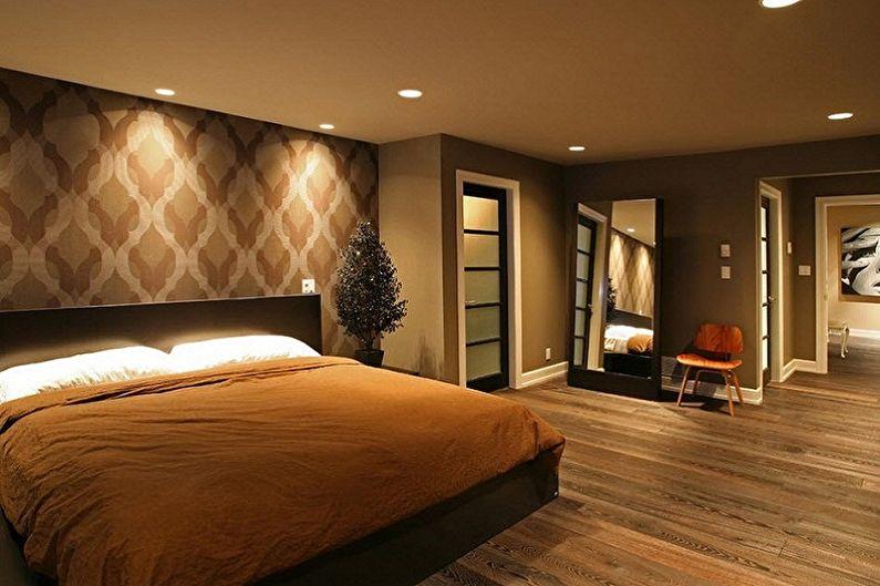 Коричневые обои для спальни - Цвет обоев для спальни