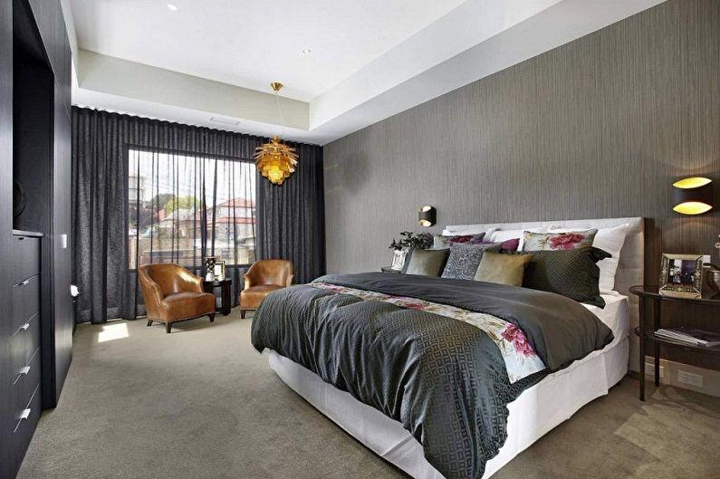 Серые обои для спальни - Цвет обоев для спальни