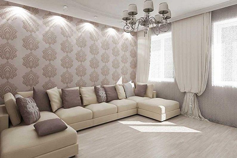 Цвет обоев для гостиной - Основные критерии выбора