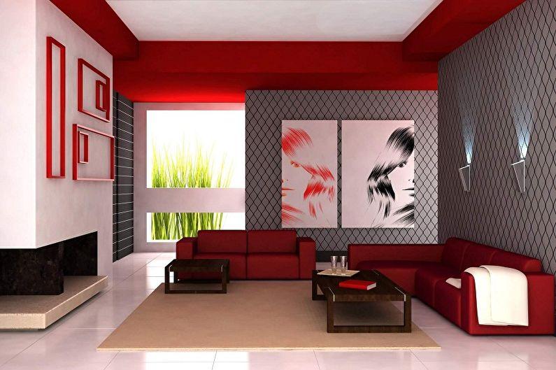 Цвет обоев для гостиной - фото и идеи