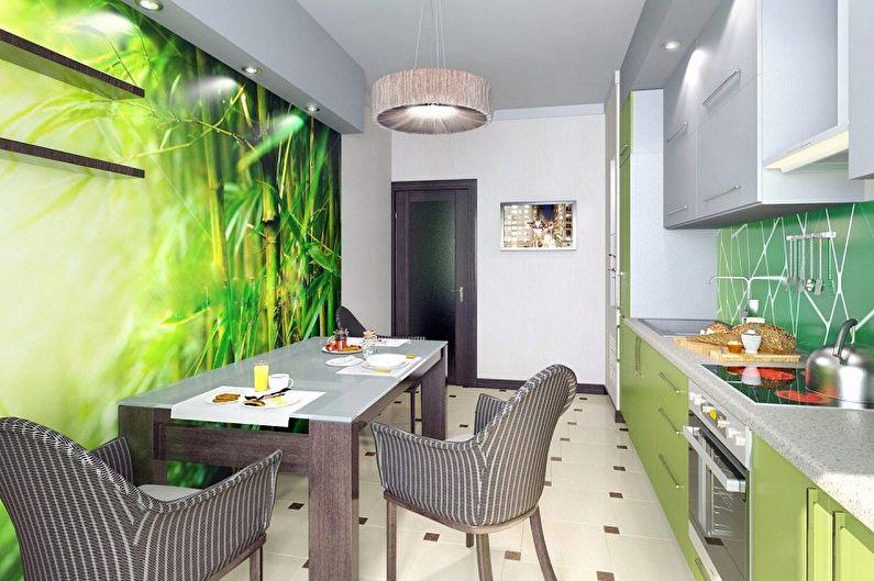Цвет обоев для кухни - фото и идеи