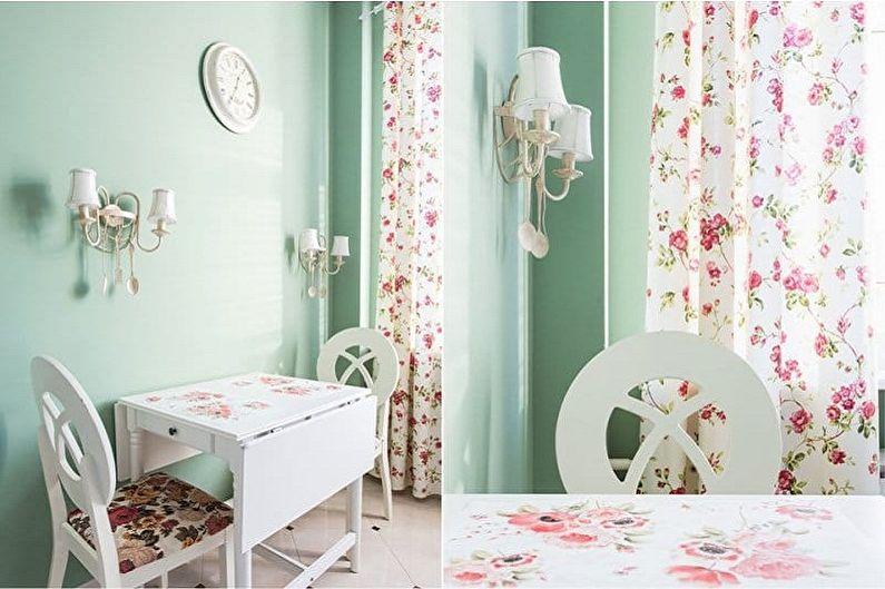 Бело-зеленая кухня - Сочетание с розовым