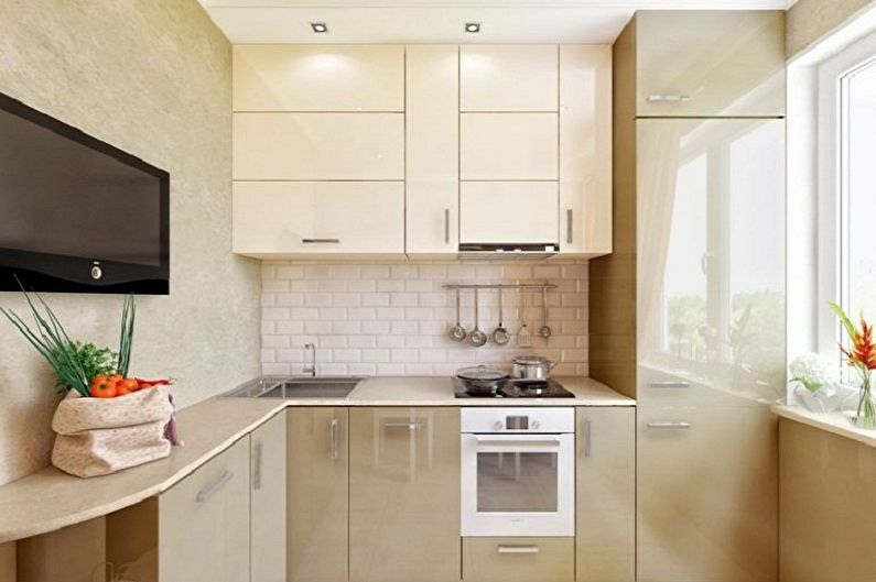 Дизайн кухни 4 кв.м. - Цветовые решения