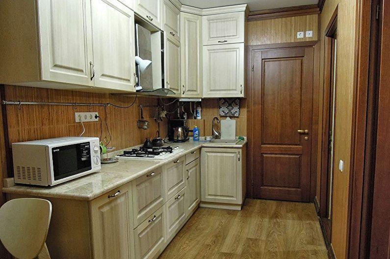 Дизайн кухни 4 кв.м. - Отделка пола