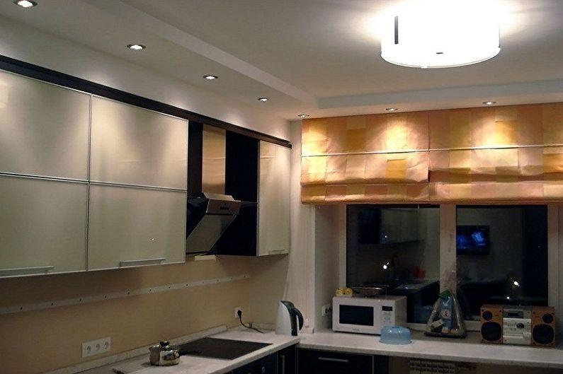 Дизайн кухни 4 кв.м. - Отделка потолка