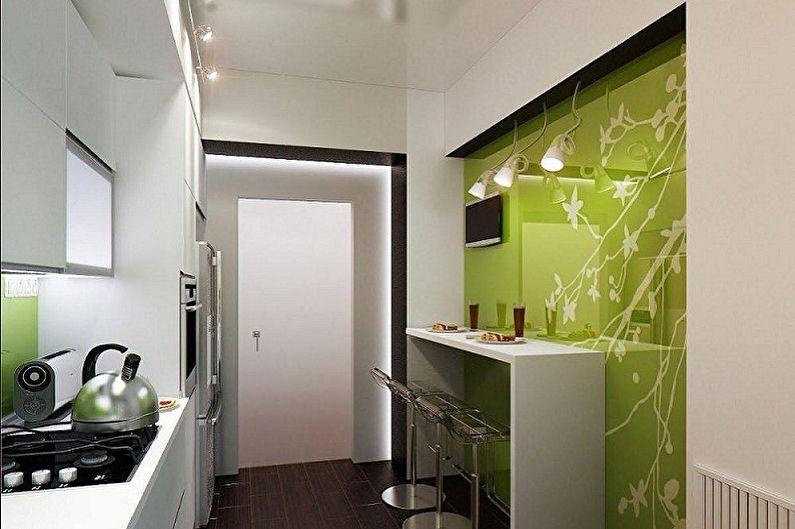 Дизайн кухни 4 кв.м. - Освещение и декор