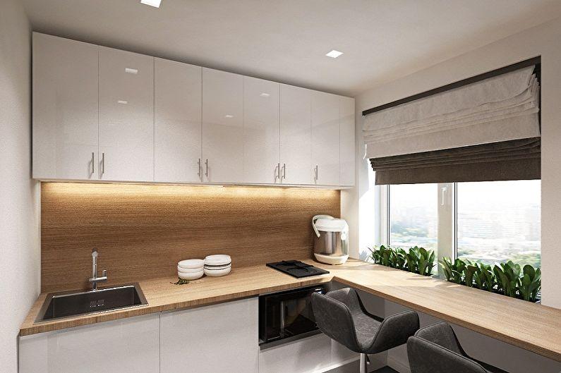 Кухня 4 кв.м. в стиле минимализм - Дизайн интерьера