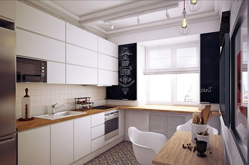 Кухня 4 кв.м. в скандинавском стиле - Дизайн интерьера