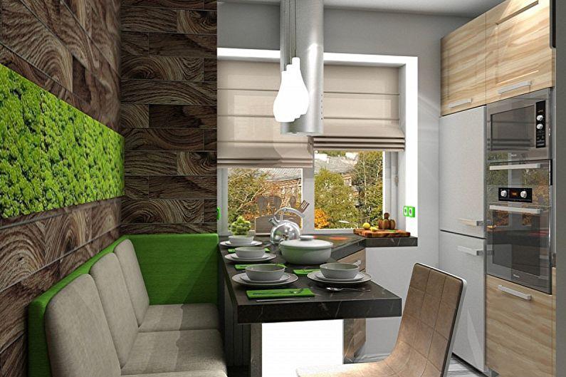 Кухня 4 кв.м. в эко-стиле - Дизайн интерьера