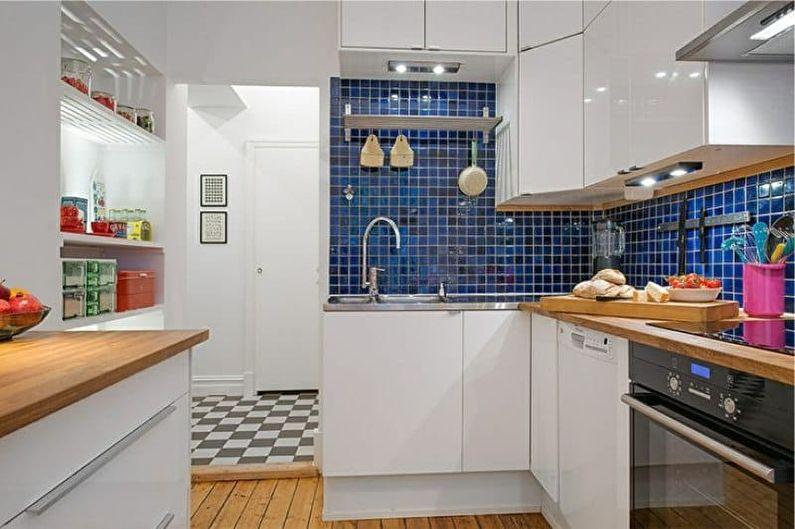 Дизайн интерьера кухни 4 кв.м. - фото