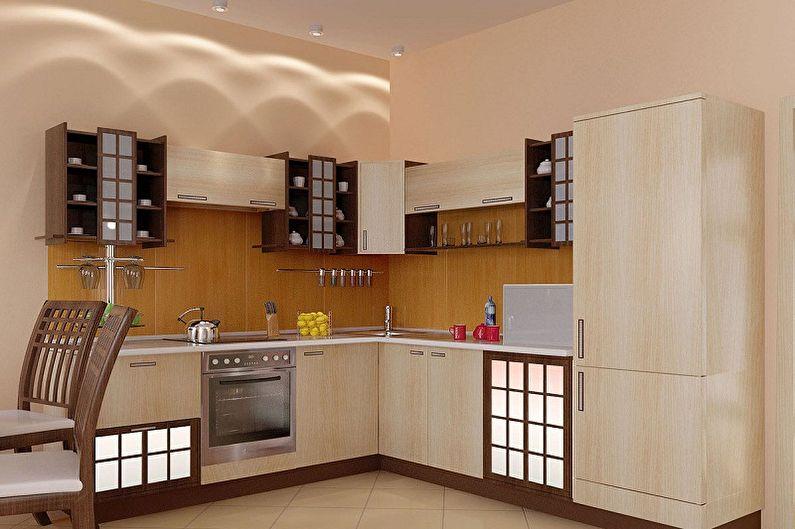 Дизайн кухни в японском стиле - Мебель