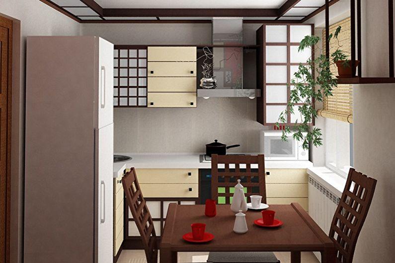 Маленькая кухня в японском стиле - Дизайн интерьера