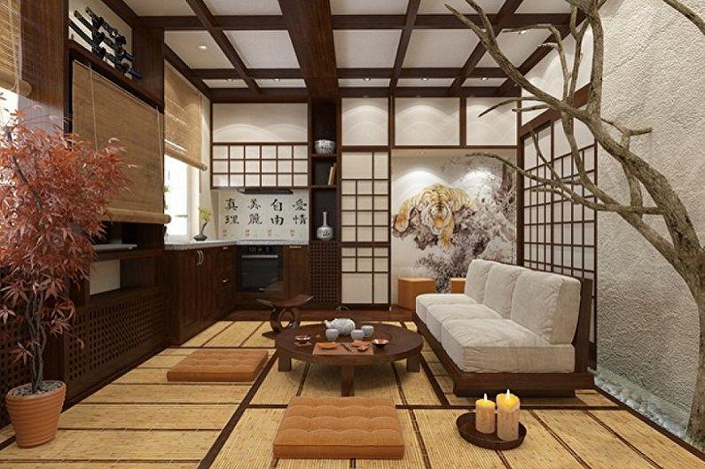 Дизайн интерьера кухни в японском стиле - фото