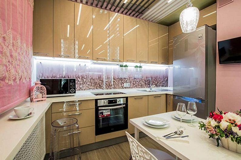 Дизайн маленькой кухни - Отделка стен
