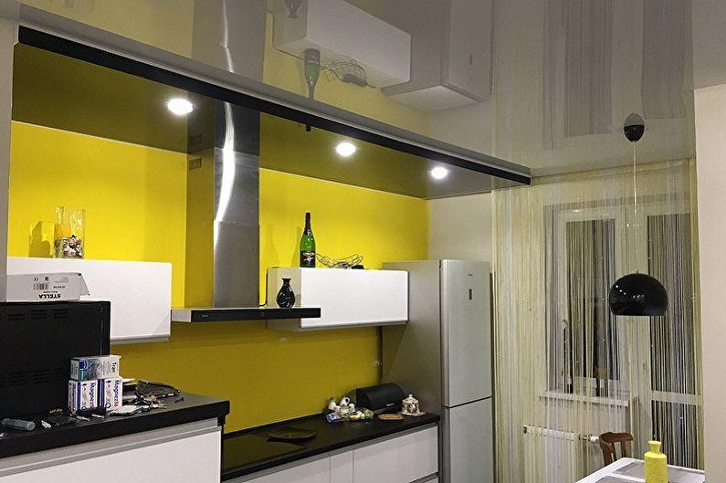 Дизайн маленькой кухни - Отделка потолка