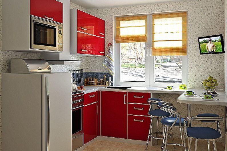 Дизайн маленькой кухни - Мебель