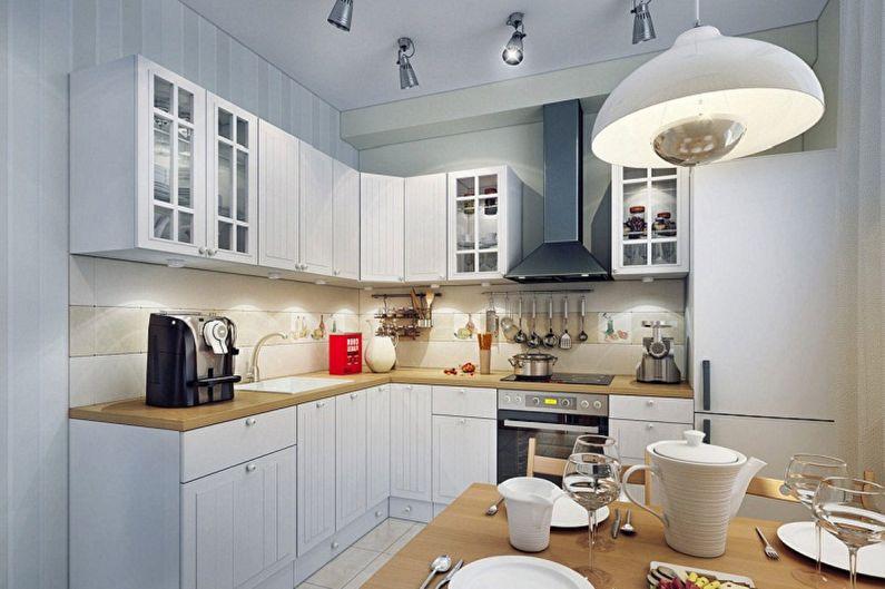 Дизайн маленькой кухни - Освещение и декор
