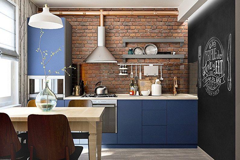 Маленькая кухня в стиле лофт - Дизайн интерьера