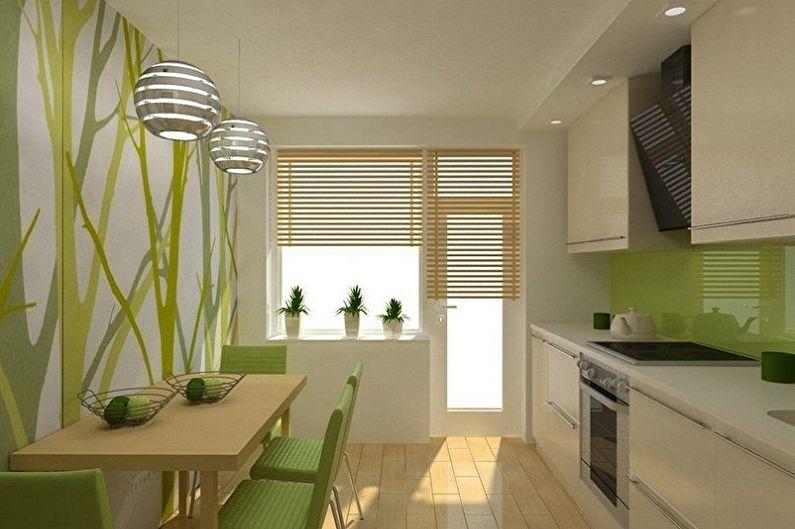 Маленькая кухня в эко-стиле - Дизайн интерьера