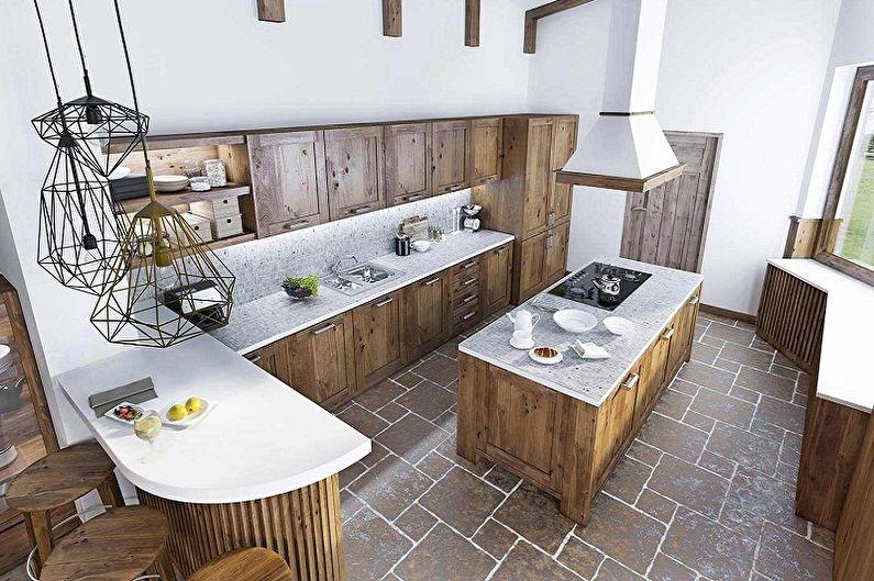 Дизайн кухни в стиле лофт - Особенности