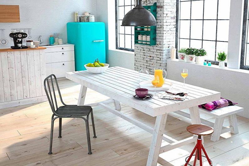 Дизайн кухни в стиле лофт - Мебель